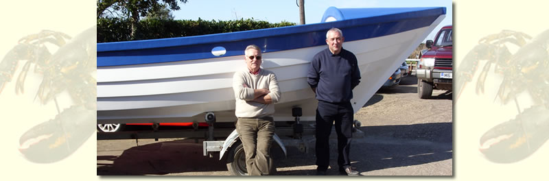 Mike Grady and Steve Nudd with a Tactile Fishing Boat